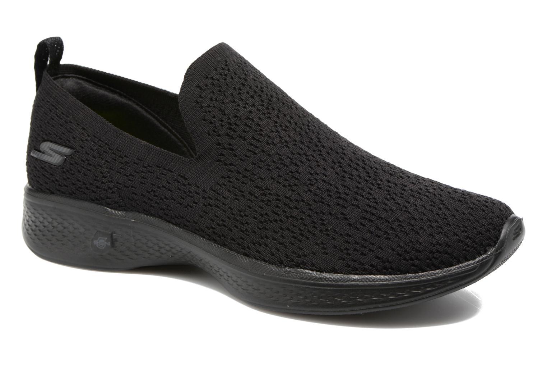 Chaussures de sport Skechers Go walk 4 gifted Noir vue détail/paire