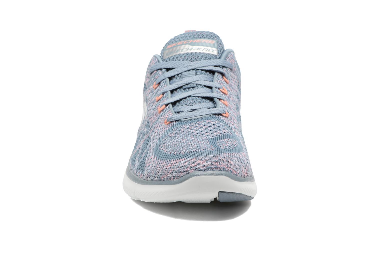 Scarpe sportive Skechers Flex Appeal 2.0 New Gem Grigio modello indossato