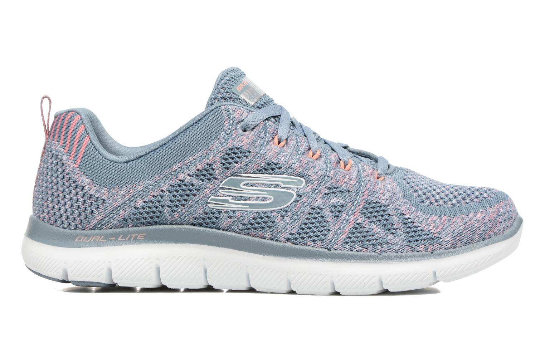Sport shoes Skechers Flex Appeal 2.0 New Gem Grey back view