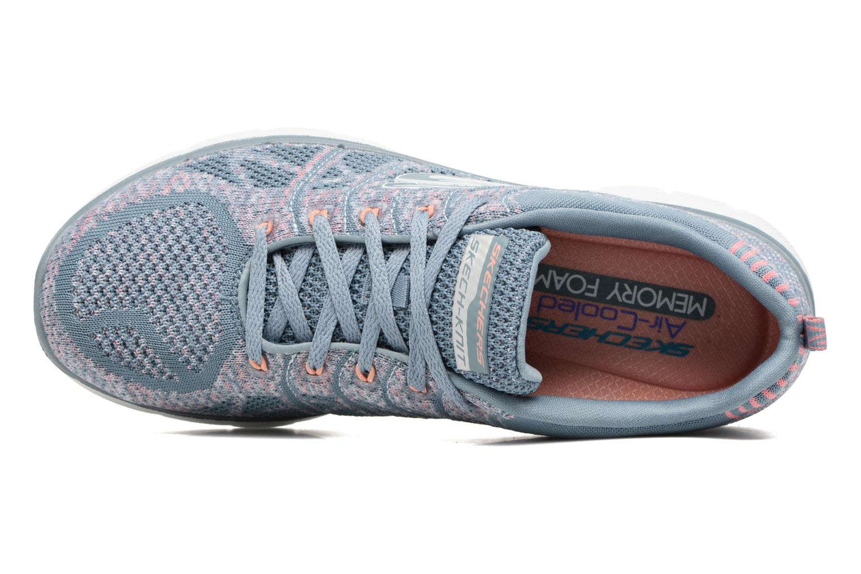Scarpe sportive Skechers Flex Appeal 2.0 New Gem Grigio immagine sinistra