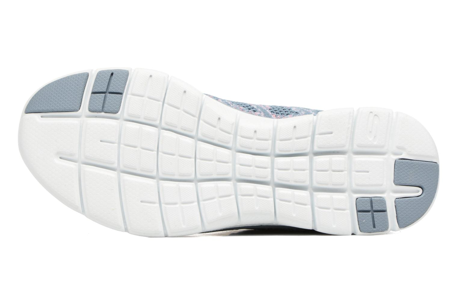 Sport shoes Skechers Flex Appeal 2.0 New Gem Grey view from above