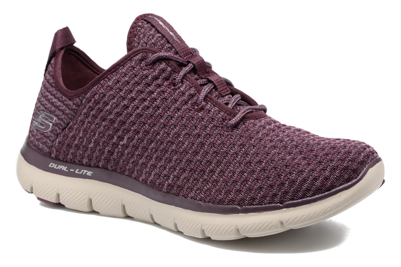 Chaussures de sport Skechers Flex Appeal 2.0 Bold Move Violet vue détail/paire