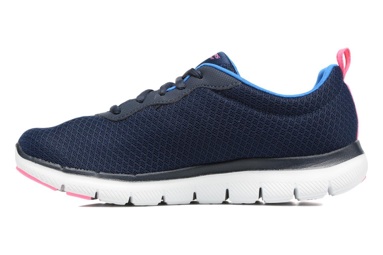 Chaussures de sport Skechers Flex Appeal 2.0 Newsmaker Bleu vue face