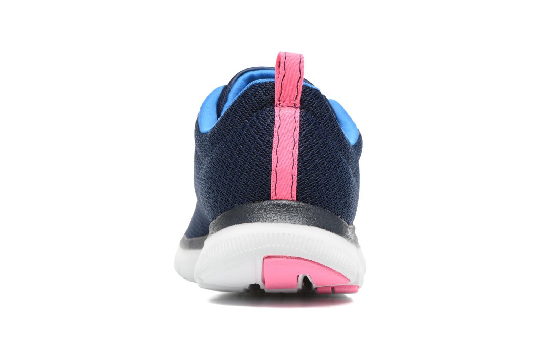 Chaussures de sport Skechers Flex Appeal 2.0 Newsmaker Bleu vue droite