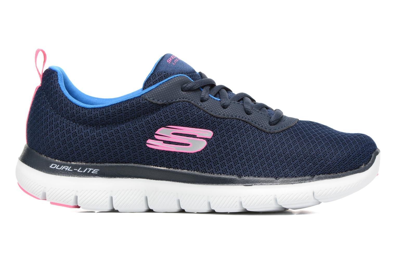 Chaussures de sport Skechers Flex Appeal 2.0 Newsmaker Bleu vue derrière