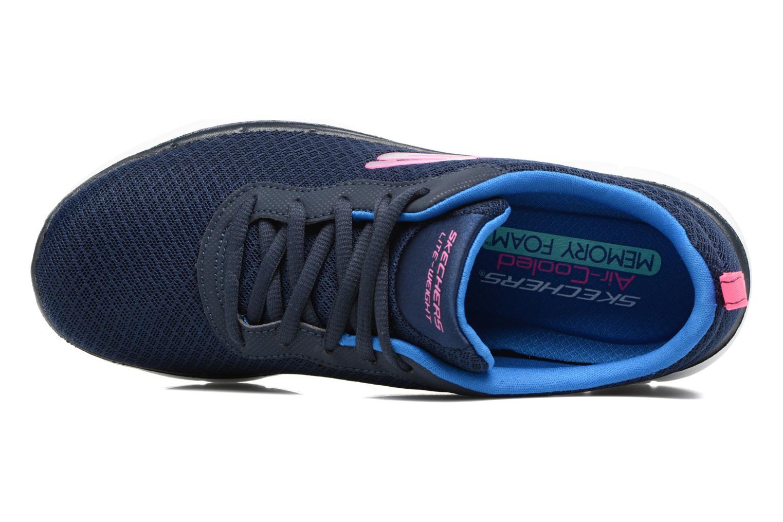 Chaussures de sport Skechers Flex Appeal 2.0 Newsmaker Bleu vue gauche