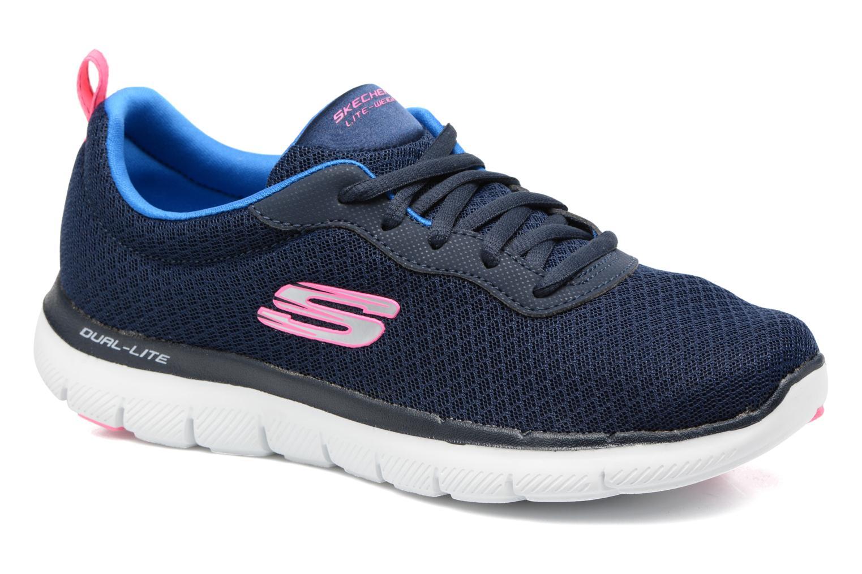 Sportssko Skechers Flex Appeal 2.0 Newsmaker Blå detaljeret billede af skoene