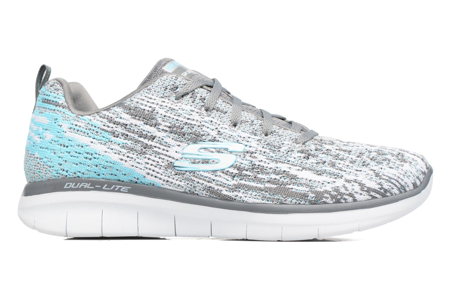 Sport shoes Skechers Synergy 2.0 High Spirits Grey back view