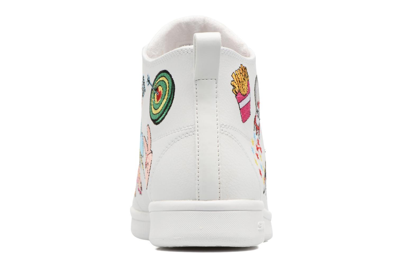 Baskets Skechers Omne So L.A. Blanc vue droite