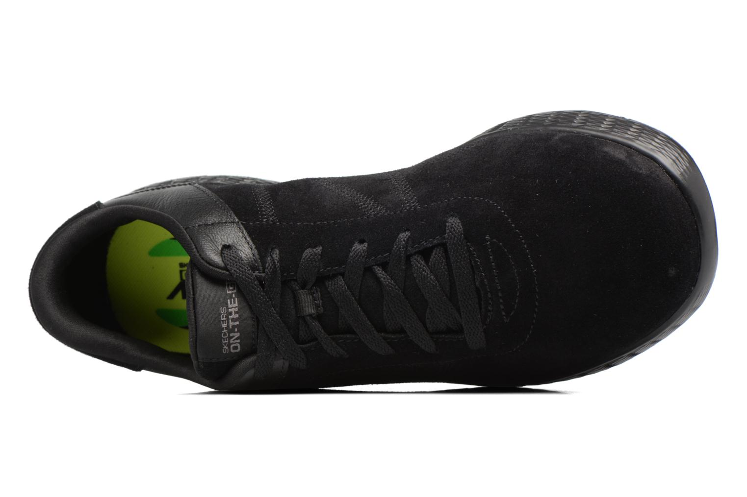 Trainers Skechers On-the-go Glide Sharp Black view from the left