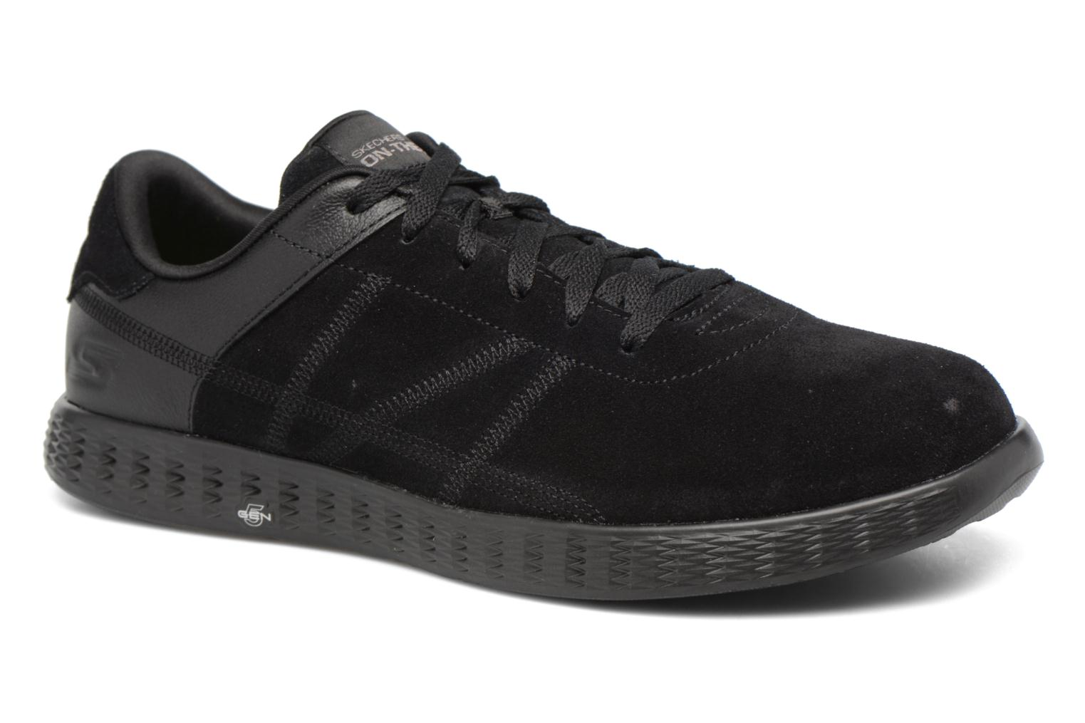 Trainers Skechers On-the-go Glide Sharp Black detailed view/ Pair view