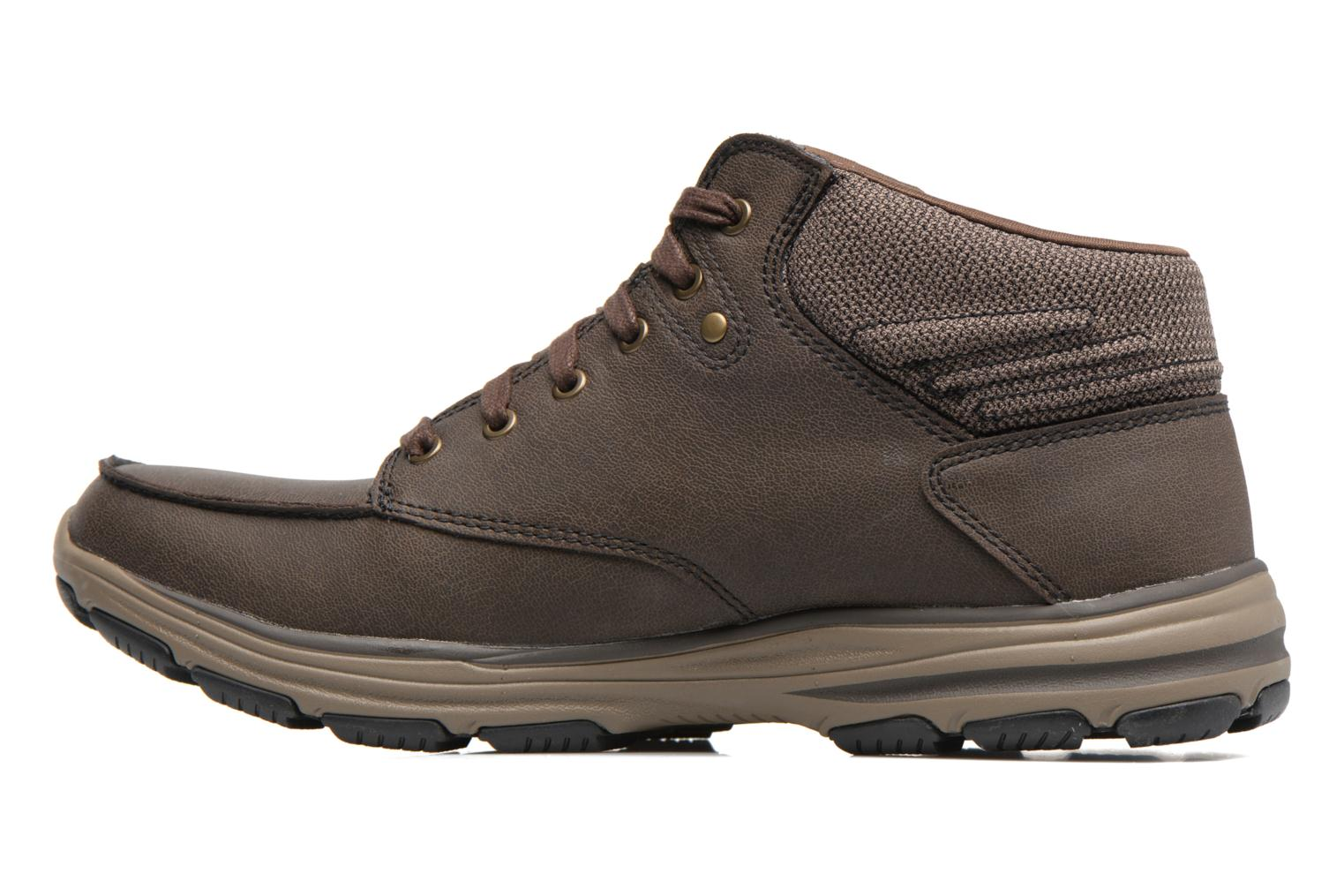 Ankle boots Skechers Garton Meleno Brown front view