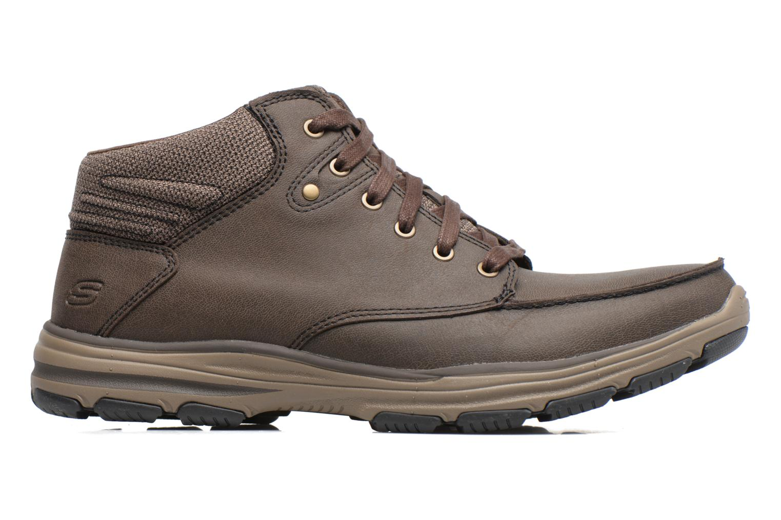 Ankle boots Skechers Garton Meleno Brown back view