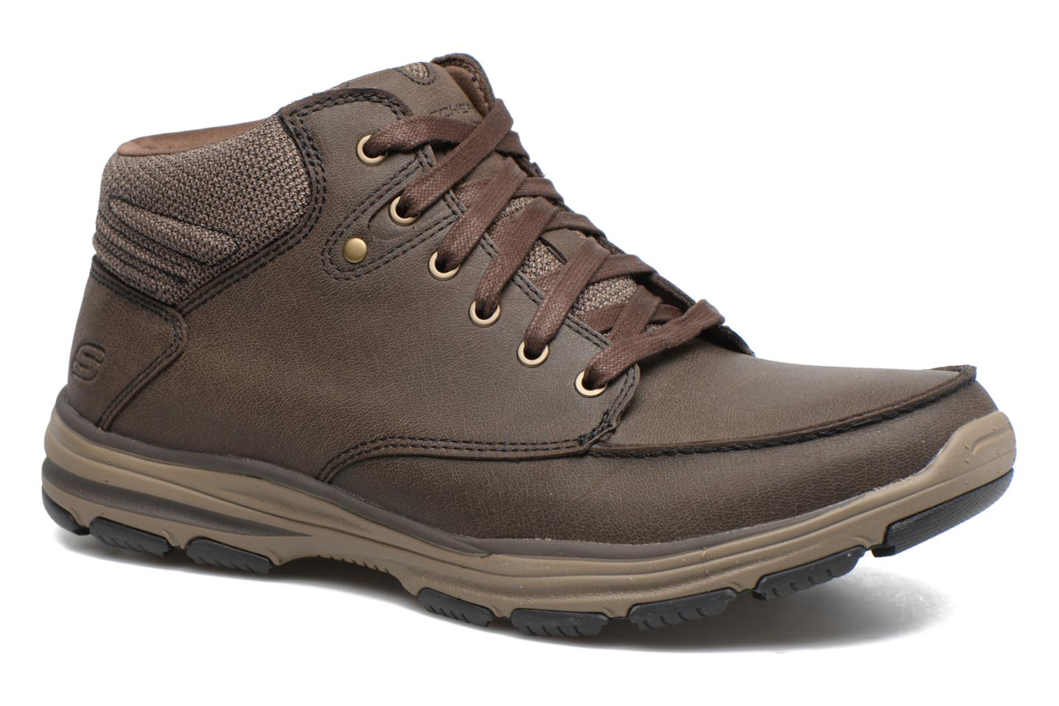 Ankle boots Skechers Garton Meleno Brown detailed view/ Pair view