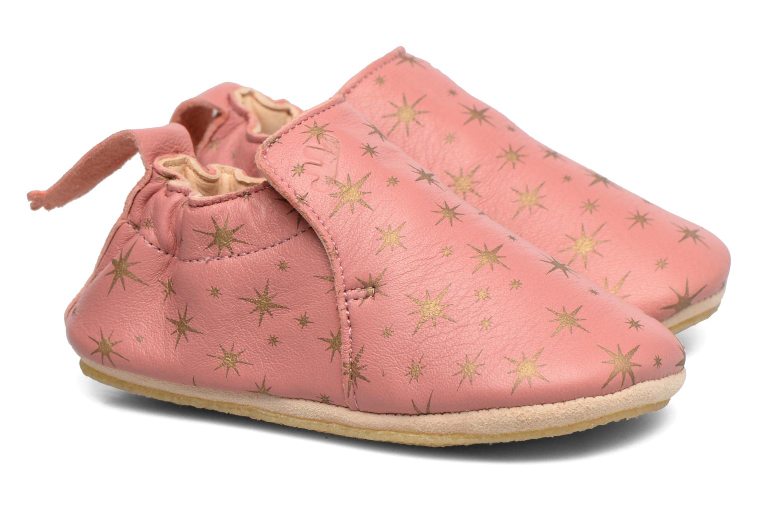 Chaussons Easy Peasy Blublu Cosmos Rose vue portées chaussures
