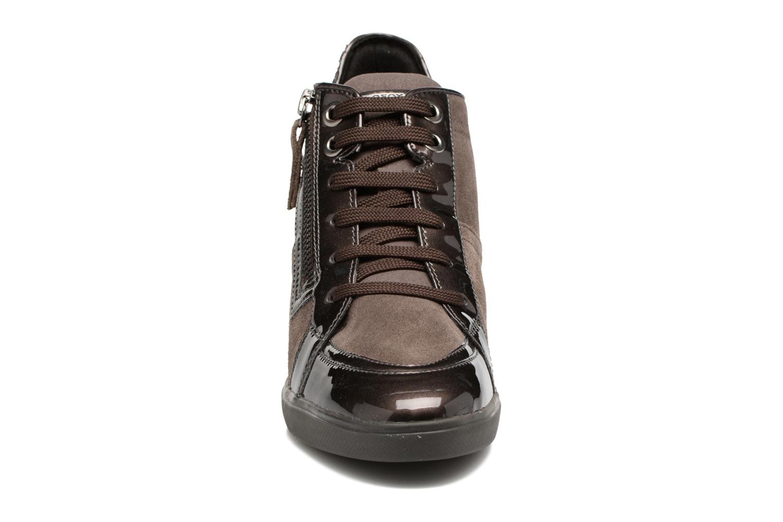 Baskets Geox D Eleni C D7467C Marron vue portées chaussures