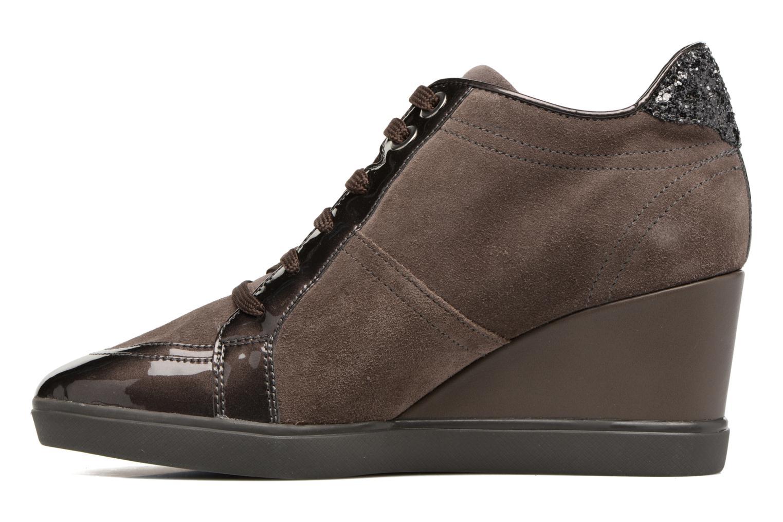 Sneakers Geox D Eleni C D7467C Bruin voorkant