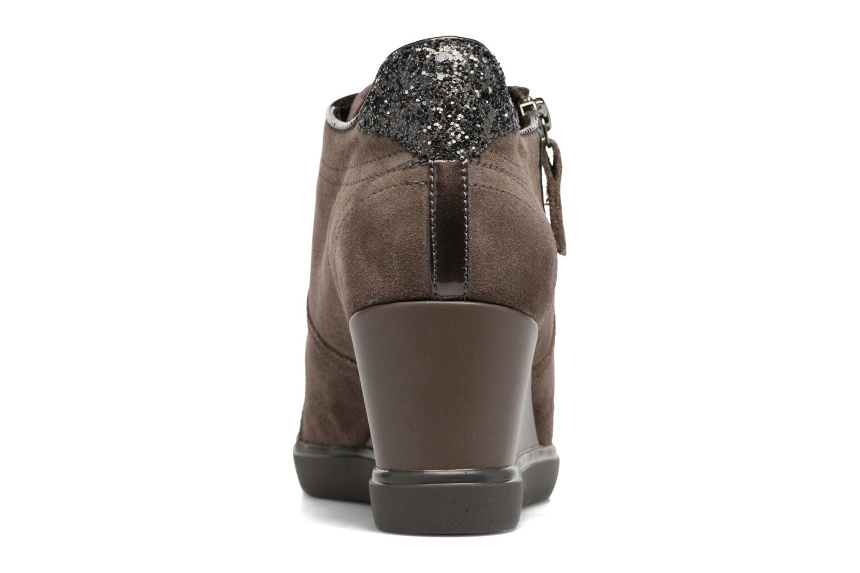 Sneakers Geox D Eleni C D7467C Bruin rechts