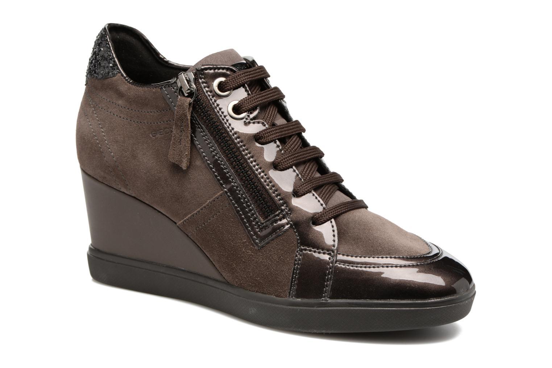 Sneakers Geox D Eleni C D7467C Bruin detail