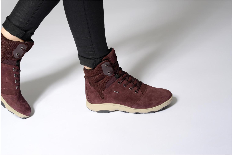 Sneaker Geox D Nebula 4X4 B Abx A D746TA weinrot ansicht von unten / tasche getragen