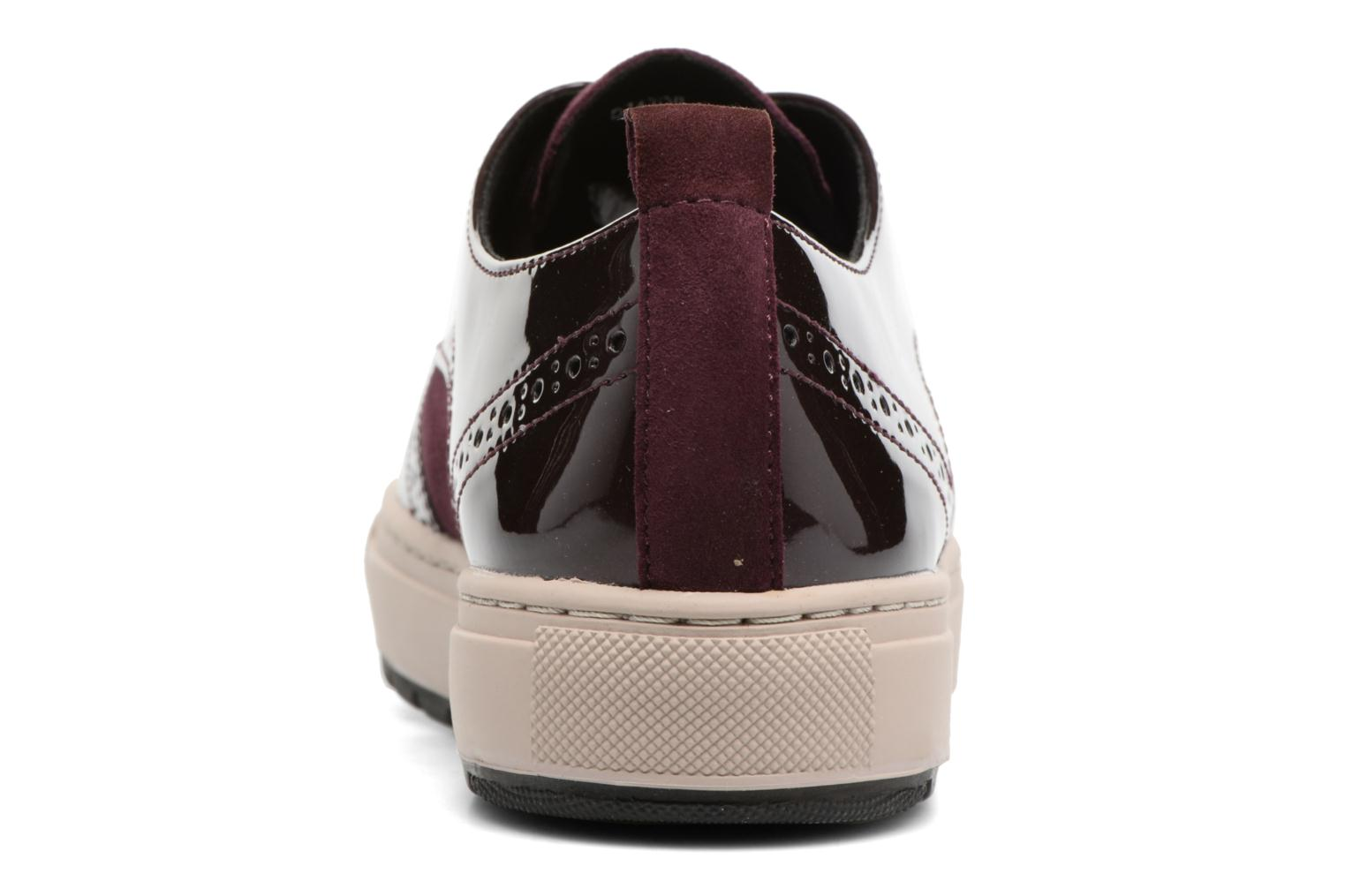Trainers Geox D Breeda B D742QB Burgundy view from the right