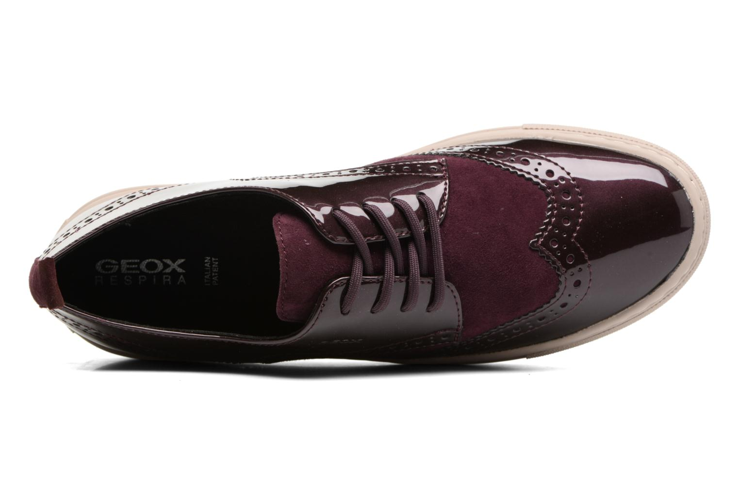 Trainers Geox D Breeda B D742QB Burgundy view from the left