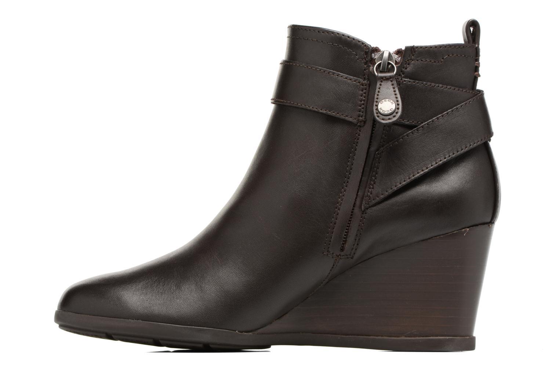 Bottines et boots Geox D Inspirat.Wed D D745ZD Marron vue face