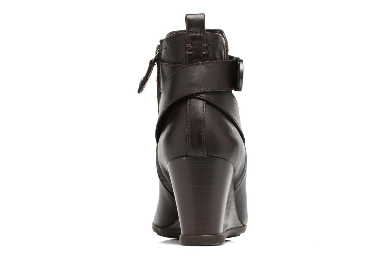 Bottines et boots Geox D Inspirat.Wed D D745ZD Marron vue droite
