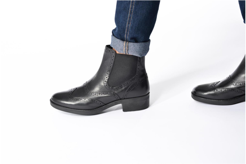 Bottines et boots Geox D Ettiene B D746BB Marron vue bas / vue portée sac