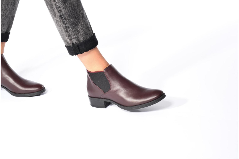 Bottines et boots Geox D Mendi Np Abx A D746SA Noir vue bas / vue portée sac