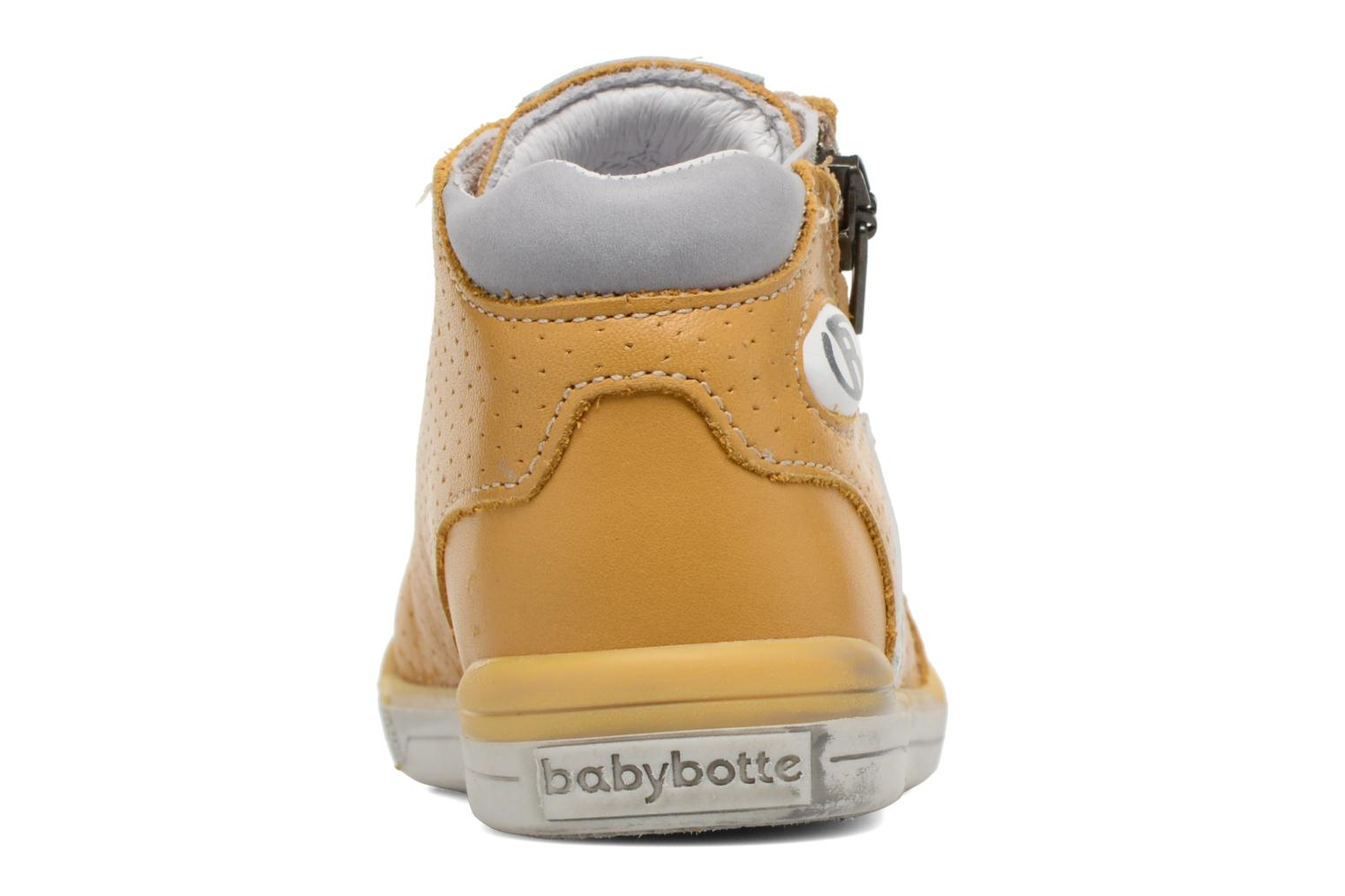 Trainers Babybotte B3 Lacet Yellow view from the right