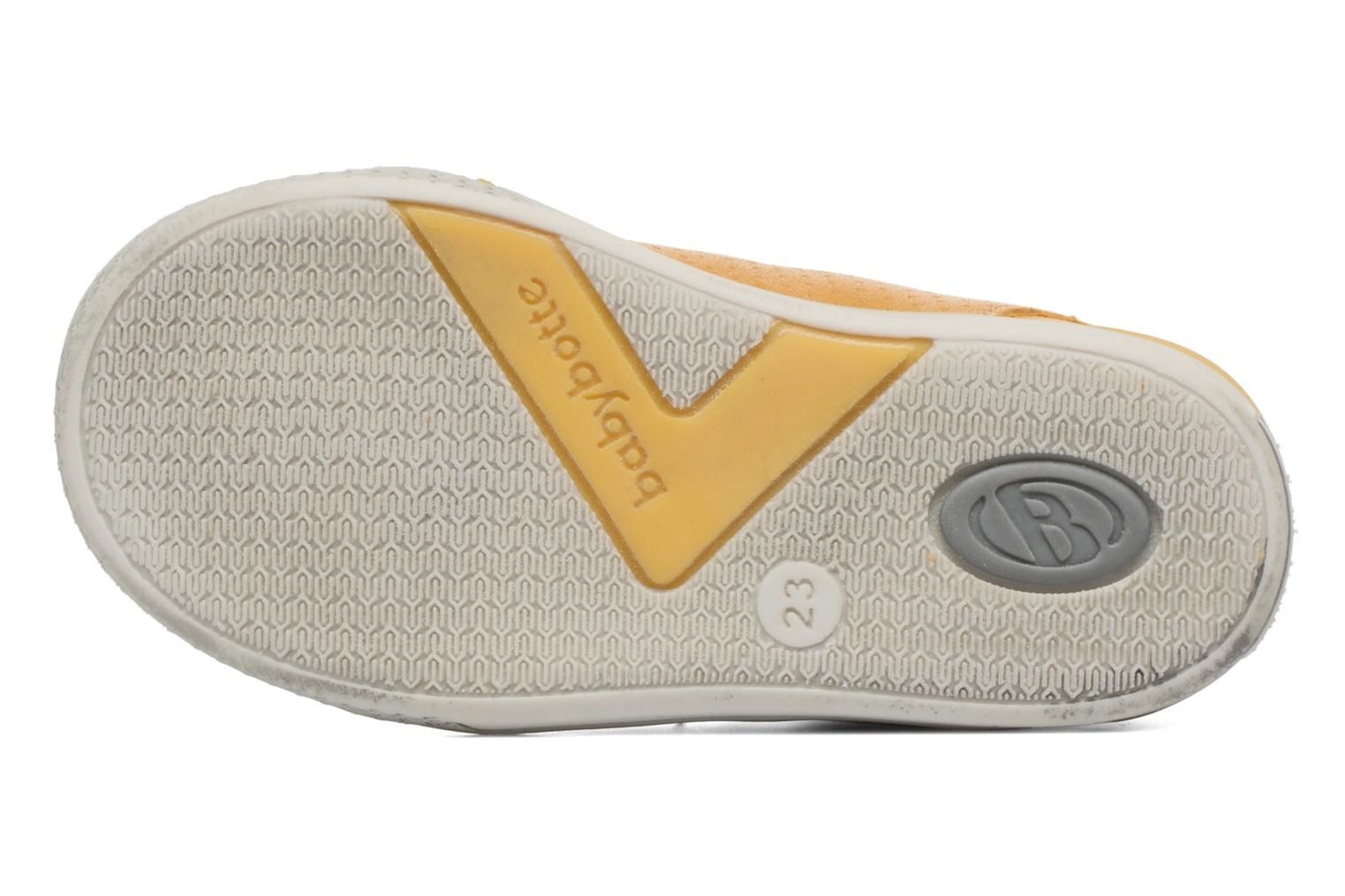 Trainers Babybotte B3 Lacet Yellow view from above
