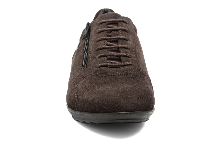 Baskets Geox U Symbol A U74A5A Marron vue portées chaussures