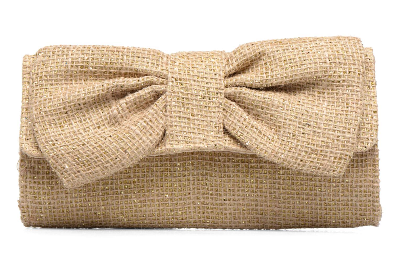 Petite Maroquinerie Dorothy Perkins woven bow Or et bronze vue détail/paire