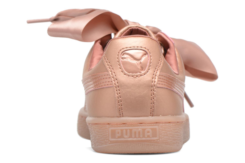 Baskets Puma Heart COOPER Rose vue droite