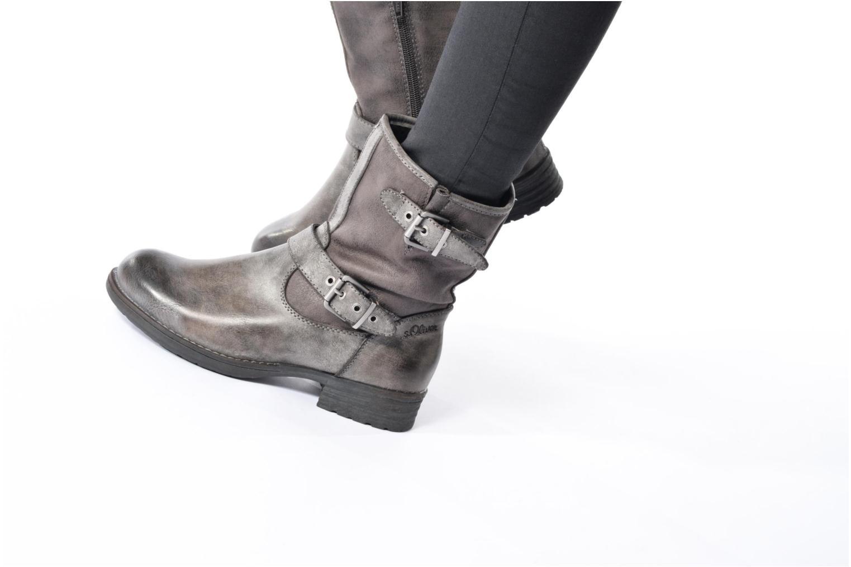 Stiefeletten & Boots S.Oliver Cecila grau ansicht von unten / tasche getragen