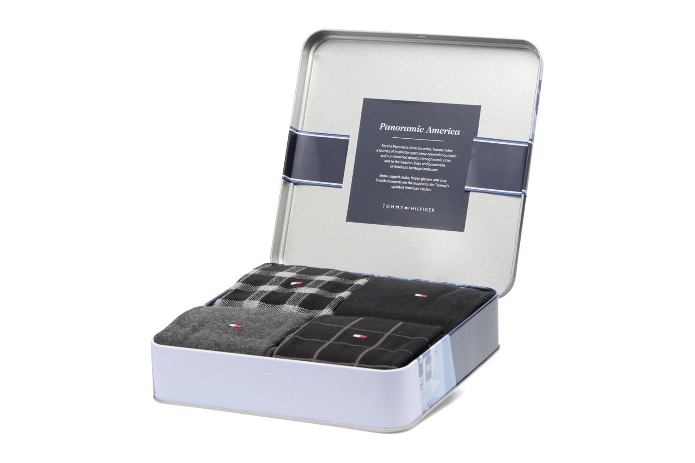 Chaussettes et collants Tommy Hilfiger GIFT BOX Chaussettes CALSSIC LOT DE 4 Noir vue portées chaussures
