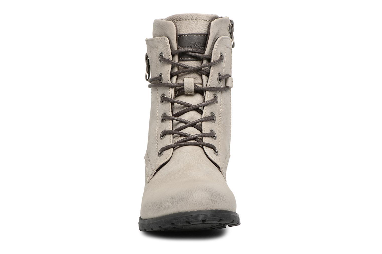 Stiefeletten & Boots Tom Tailor Mélissa grau schuhe getragen
