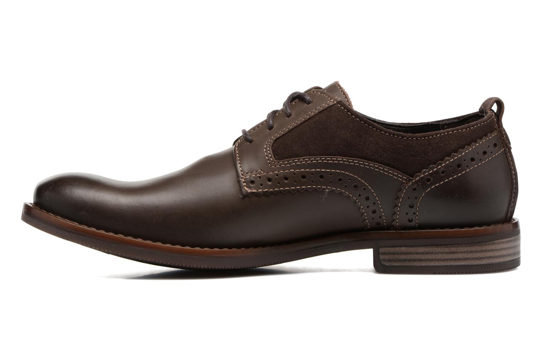 Chaussures à lacets Rockport Wynstin Plain Toe Marron vue face