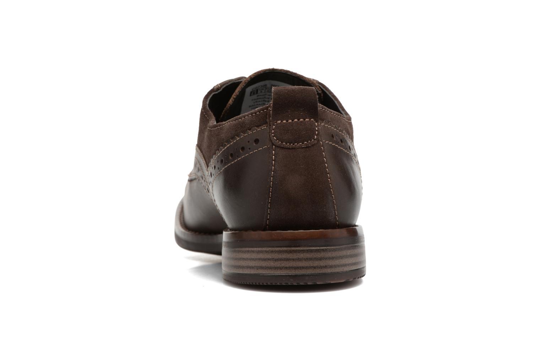 Chaussures à lacets Rockport Wynstin Plain Toe Marron vue droite
