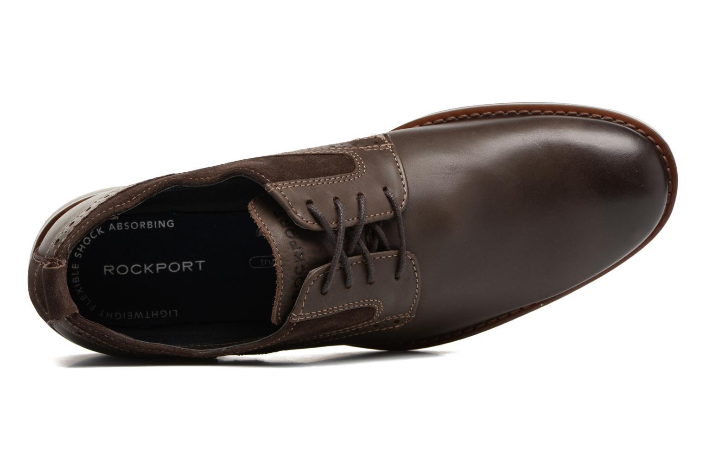 Chaussures à lacets Rockport Wynstin Plain Toe Marron vue gauche