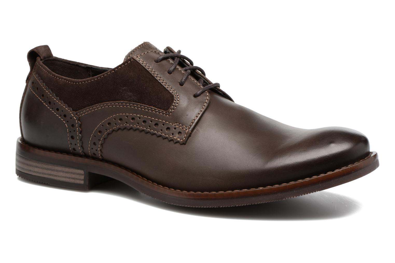 Chaussures à lacets Rockport Wynstin Plain Toe Marron vue détail/paire