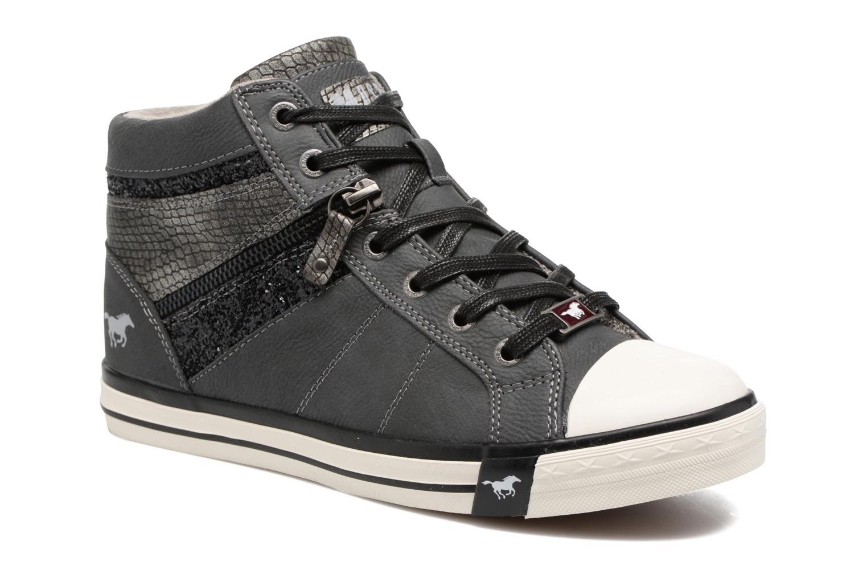 Baskets Mustang shoes Eper Gris vue détail/paire