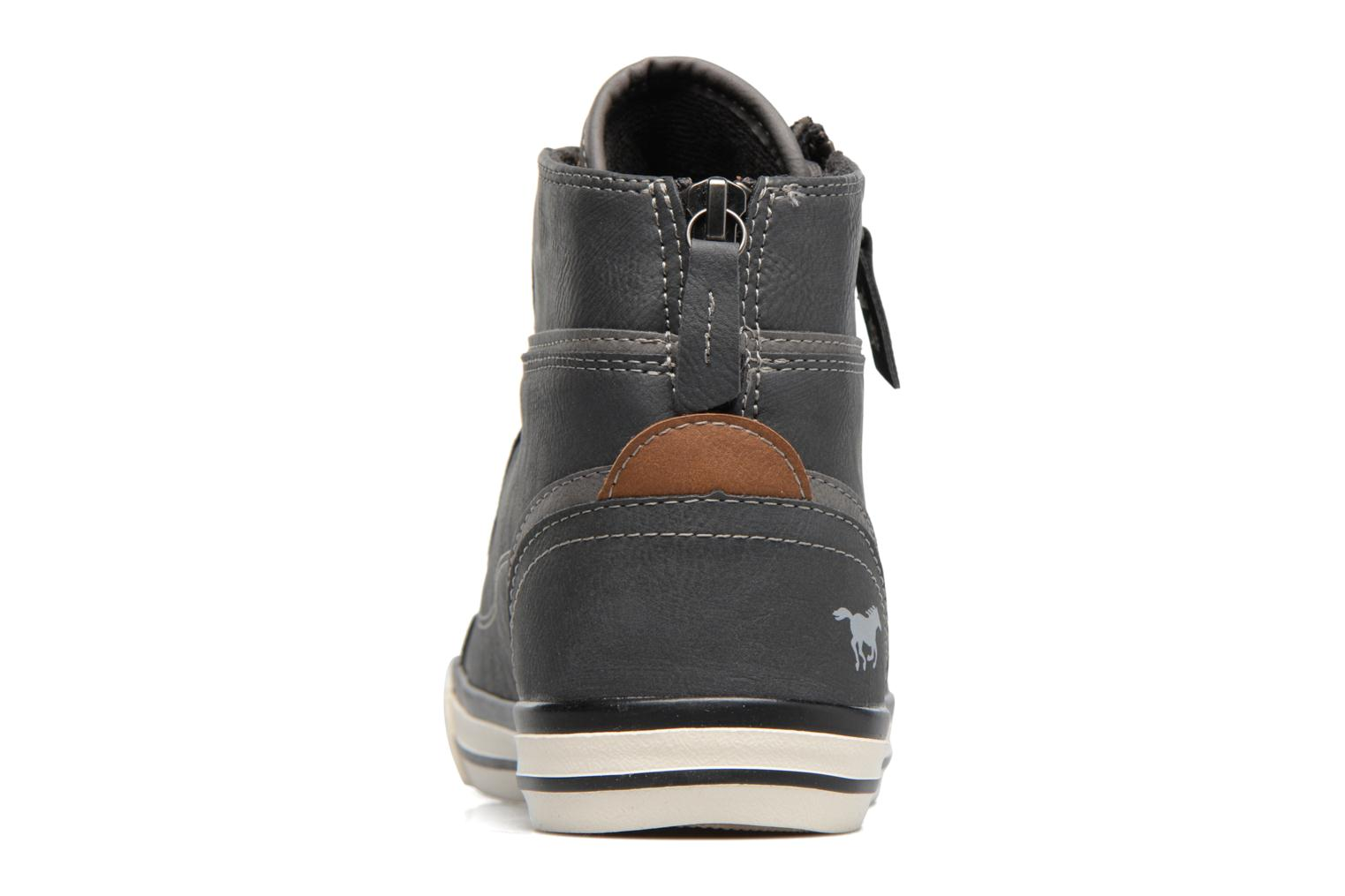 Trainers Mustang shoes Bala Grey view from the right
