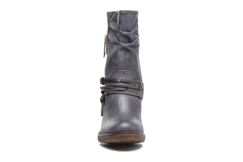 Bottes Mustang shoes Taia Bleu vue portées chaussures