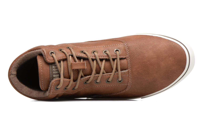 Baskets Mustang shoes Panomé Marron vue gauche