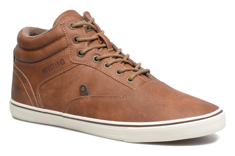 Baskets Mustang shoes Panomé Marron vue détail/paire