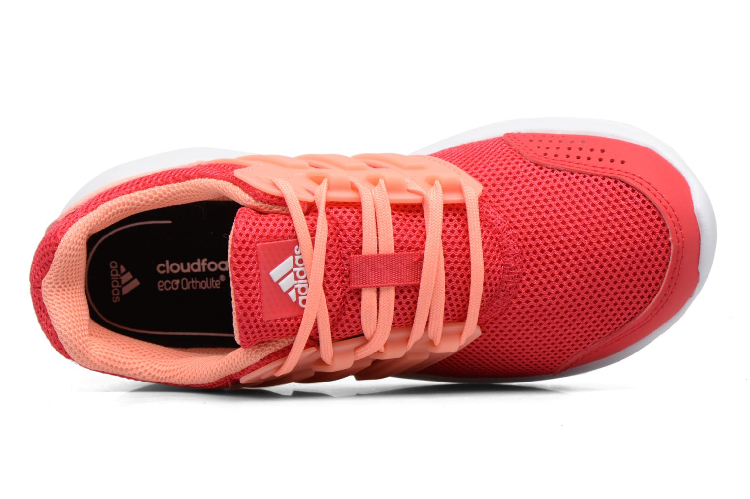 Sport shoes Adidas Performance Galaxy 4 K Pink view from the left
