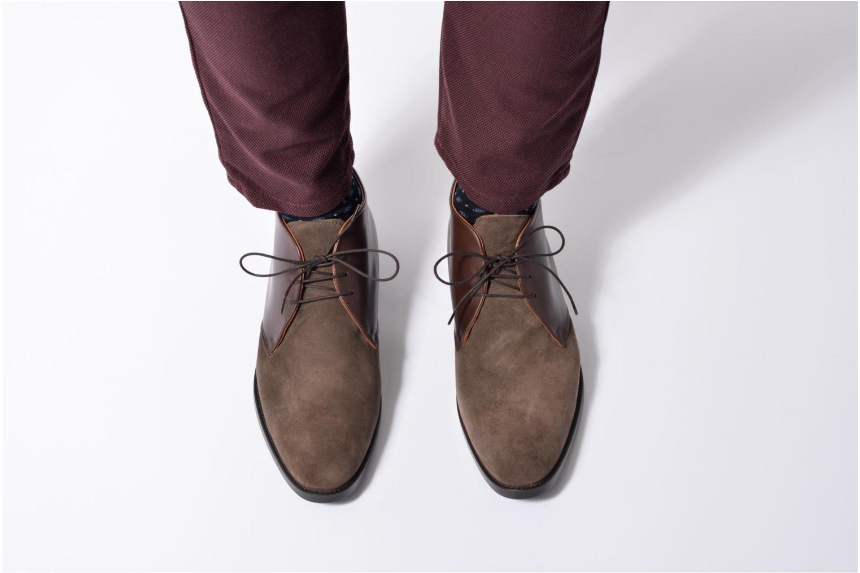Chaussures à lacets Mr SARENZA Testu Bleu vue bas / vue portée sac
