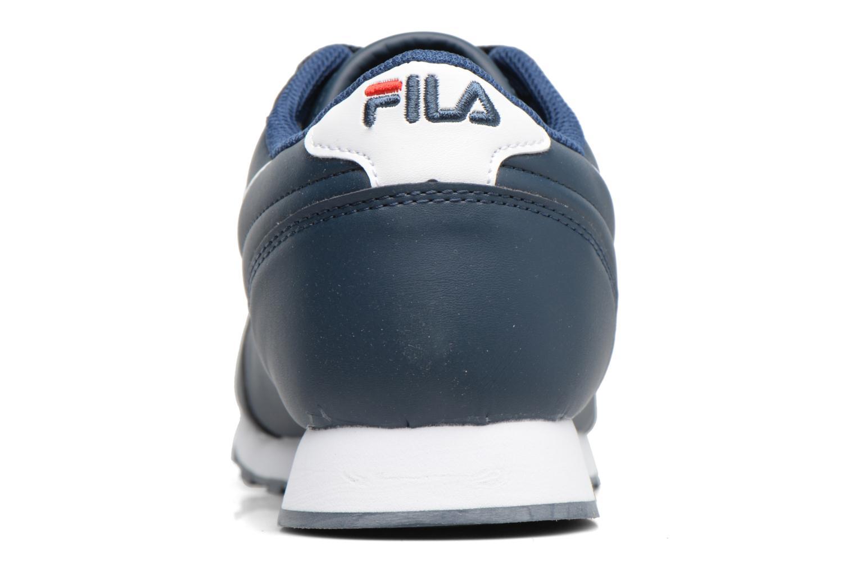 Baskets FILA Orbit Low M Bleu vue droite